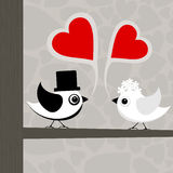 Bird of love3. Birds love each other. A vector illustration Stock Image