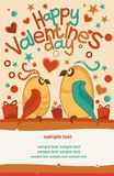 Bird lovers. Romantic card with birds in love Stock Photography