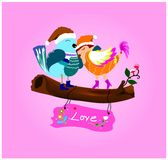 Cards expressing love on Valentine's Day. Stock Image