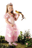 Bird-Loving Princess Royalty Free Stock Photos