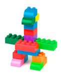 Bird made from toy building blocks Royalty Free Stock Image
