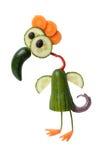 Bird made of vegetables Stock Photos