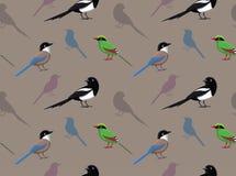 Bird Magpie Wallpaper Stock Photography