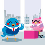 Bird Manager Office Royalty Free Stock Photography