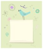 Bird with a Message Page Stock Image