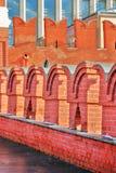 Bird on Moscow Kremlin wall. Color photo. Royalty Free Stock Photos