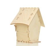 Bird neasting house made of wood isolated Stock Photography