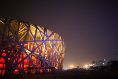 BIRD NEST(BEIJING NATIONAL STADIUM) Stock Images