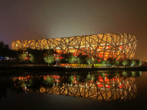 Bird Nest(China National Statium). The main stadium of 2008 Beijing Olympics, Bird Nest Royalty Free Stock Photo