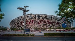 The Bird Nest Olympics Stadium in Beijing royalty free stock photo