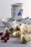 Bird Nest Soup. With ingredient and bowl in background royalty free stock photos