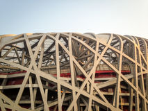 Bird Nest Stadium. Closeup of the Birdnest Stadium in Beijing, China Royalty Free Stock Photography