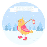 Bird new year Royalty Free Stock Photos