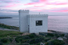 Bird Observatory on Isle of Anglesey. South Stack RSPB Royal Society for protection of Birds observatory building overlooking the cliffs on the Isle of Anglesey Royalty Free Stock Photo