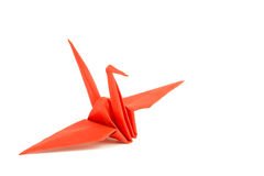 Bird in origami. Isolated in white Stock Image