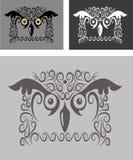 Bird ornament 05 (owl) Stock Photo