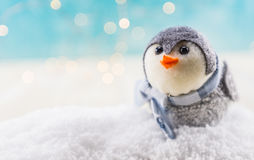 Bird Ornament in Snow with Copy Space to Left Stock Photos