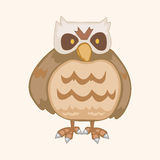 Bird owl cartoon theme elements vector,eps. Vector illustration file Stock Photo