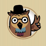 Bird. Owl. Peace symbol Royalty Free Stock Photography