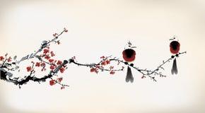Bird painting Stock Photography