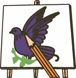 Bird Painting Royalty Free Stock Images