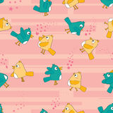 Bird Pair Seamless Pattern_eps Royalty Free Stock Photos