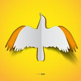 Bird in papercut style Royalty Free Stock Photos