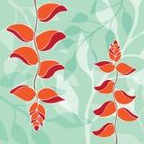 Bird of paradise pattern illustration Stock Photo