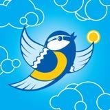 Bird parus Stock Photography