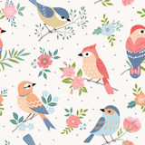 Bird pastel pattern Royalty Free Stock Photography
