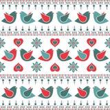 Bird pattern decoration Royalty Free Stock Photos