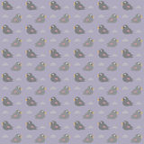 Bird pattern. Seamless pattern of birds at grey background Stock Photos