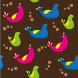 Bird pattern. A seamless pattern with colorful birds stock illustration