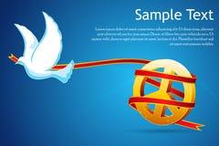 Bird with peace sign Royalty Free Stock Photos