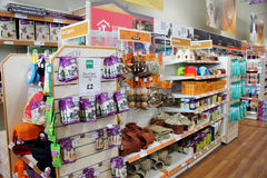 Bird Pet Products in a pet supermarket. Royalty Free Stock Images