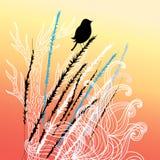 Bird and plants Stock Photo