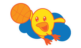 Bird Playing Basketball Royalty Free Stock Images