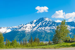 Bird Point, Alaska. Is the start to many bike trails. It also is a famous spot to watch the bore tide Royalty Free Stock Image