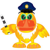 Bird police on white Royalty Free Stock Photo