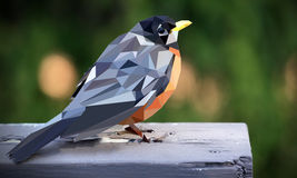 The bird polygon art stock images