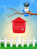 Bird postman Royalty Free Stock Image