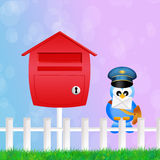 Bird postman Stock Photo