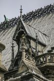 Notre Dame of Paris, France, roof fragement royalty free stock image