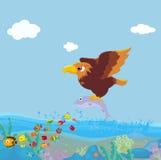 Bird of prey fishing Stock Photos