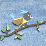 Bird recycle paper craft Royalty Free Stock Images