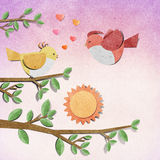 Bird recycled paper craft Royalty Free Stock Photo