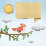 Bird  recycled papercraft background Stock Photos