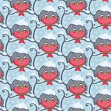 Bird red vector seamless pattern. Royalty Free Stock Photos