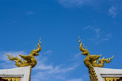 Bird of regends sculpture on the roof of thai temple Royalty Free Stock Image