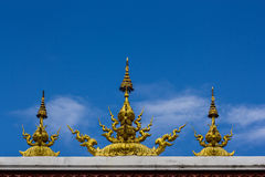Bird of regends sculpture on the roof of thai temple Royalty Free Stock Photo
